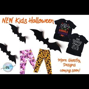 Halloween T shirts and leggings for kids/Adults